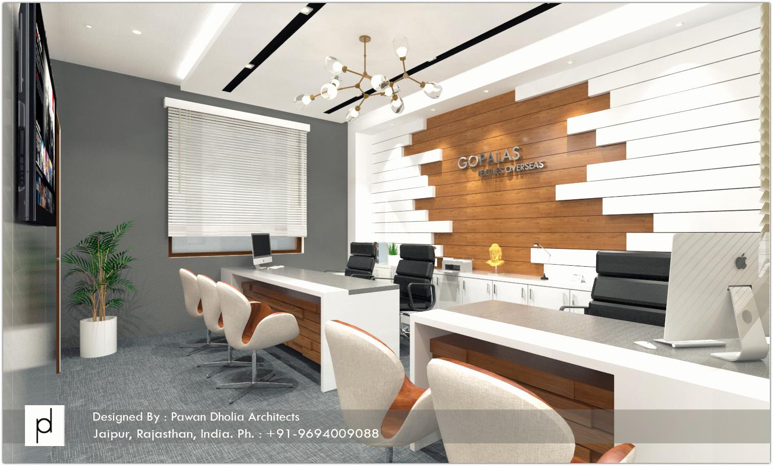 Proposed Office for Gopalas Textiles at Sitapura, Jaipur - MD's Cabin01